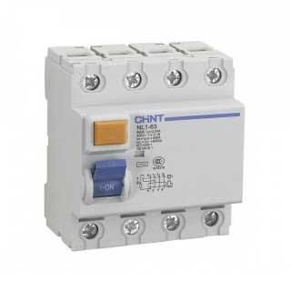 УЗО на DIN-рейку NL1-63 (электромеханический) 4 полюса
