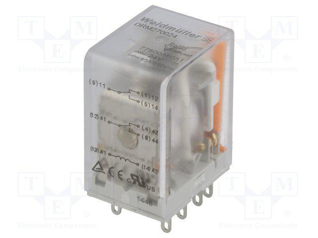 rele-drm-270110lt-weidmuller-7760056071-110v-dc-2co-svetodiod-test